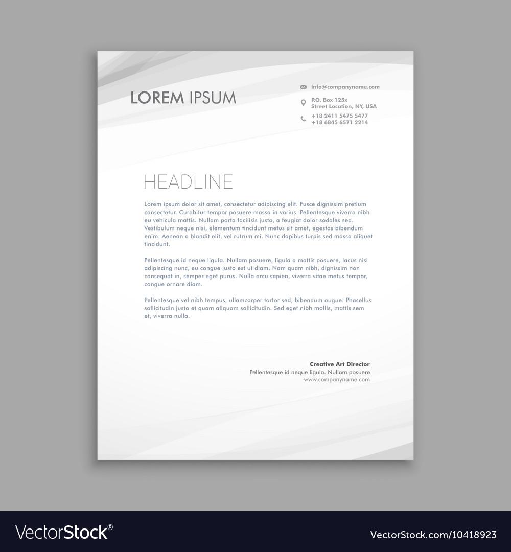 Clean minimal lettehead design