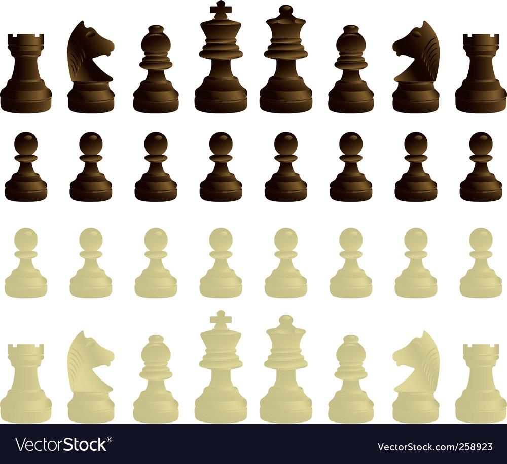 black and white game icon. black and white chessmen set. Keywords: black white game illustration icon
