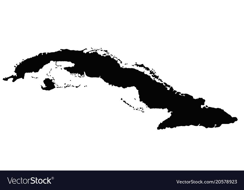 Cuba map outline