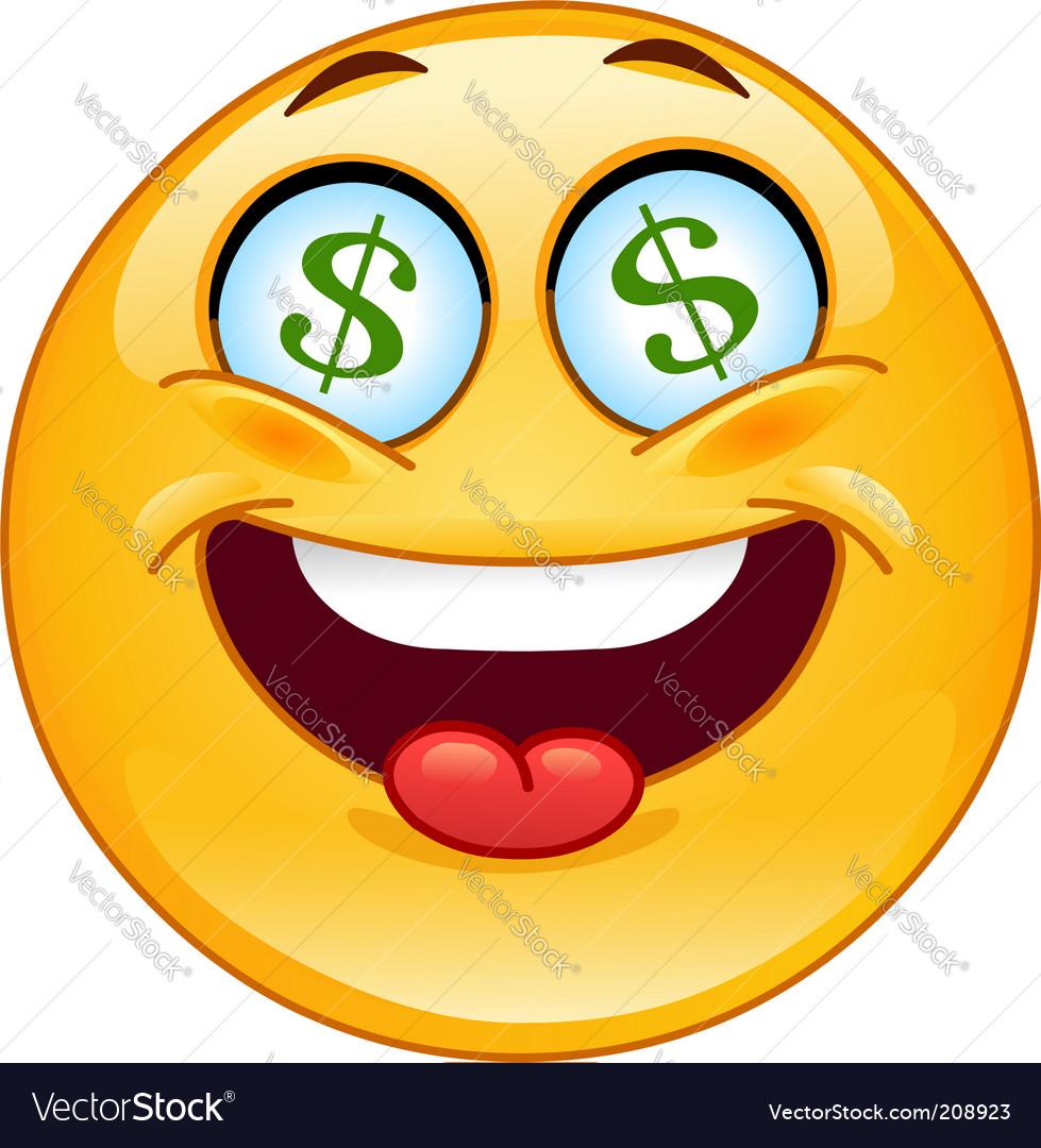 Dollar Emoticon Royalty Free Vector Image - Vectorstock-3865