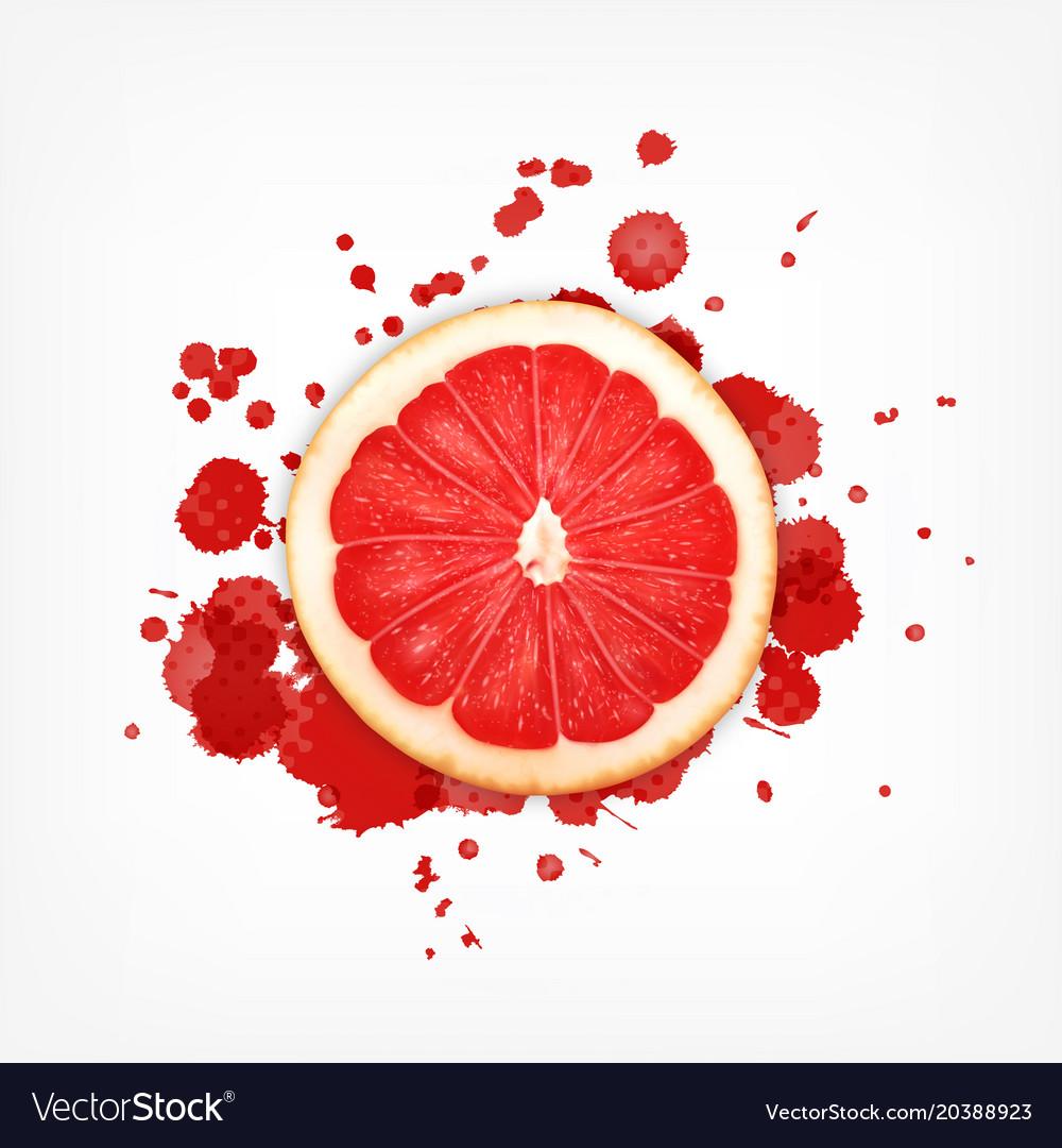 Grapefruit with splash