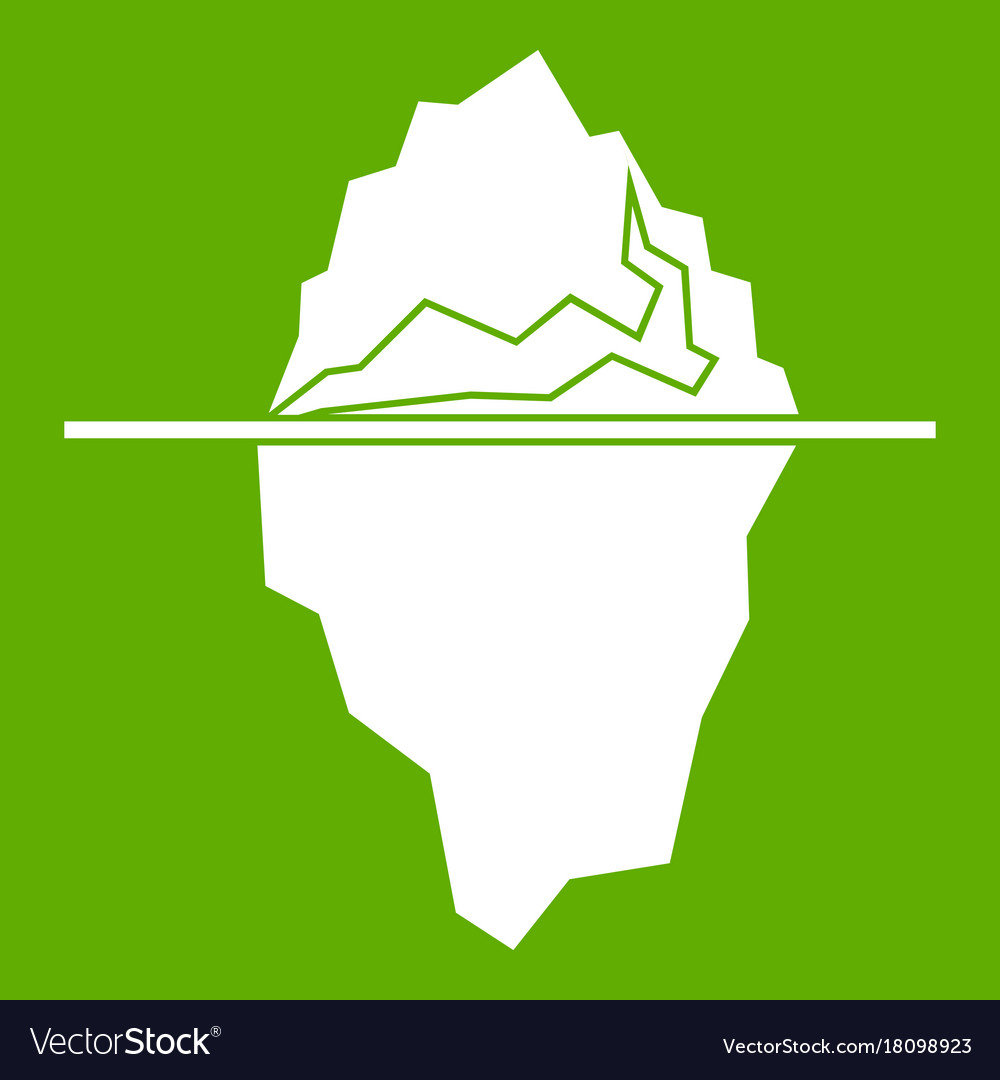 Iceberg icon green vector image