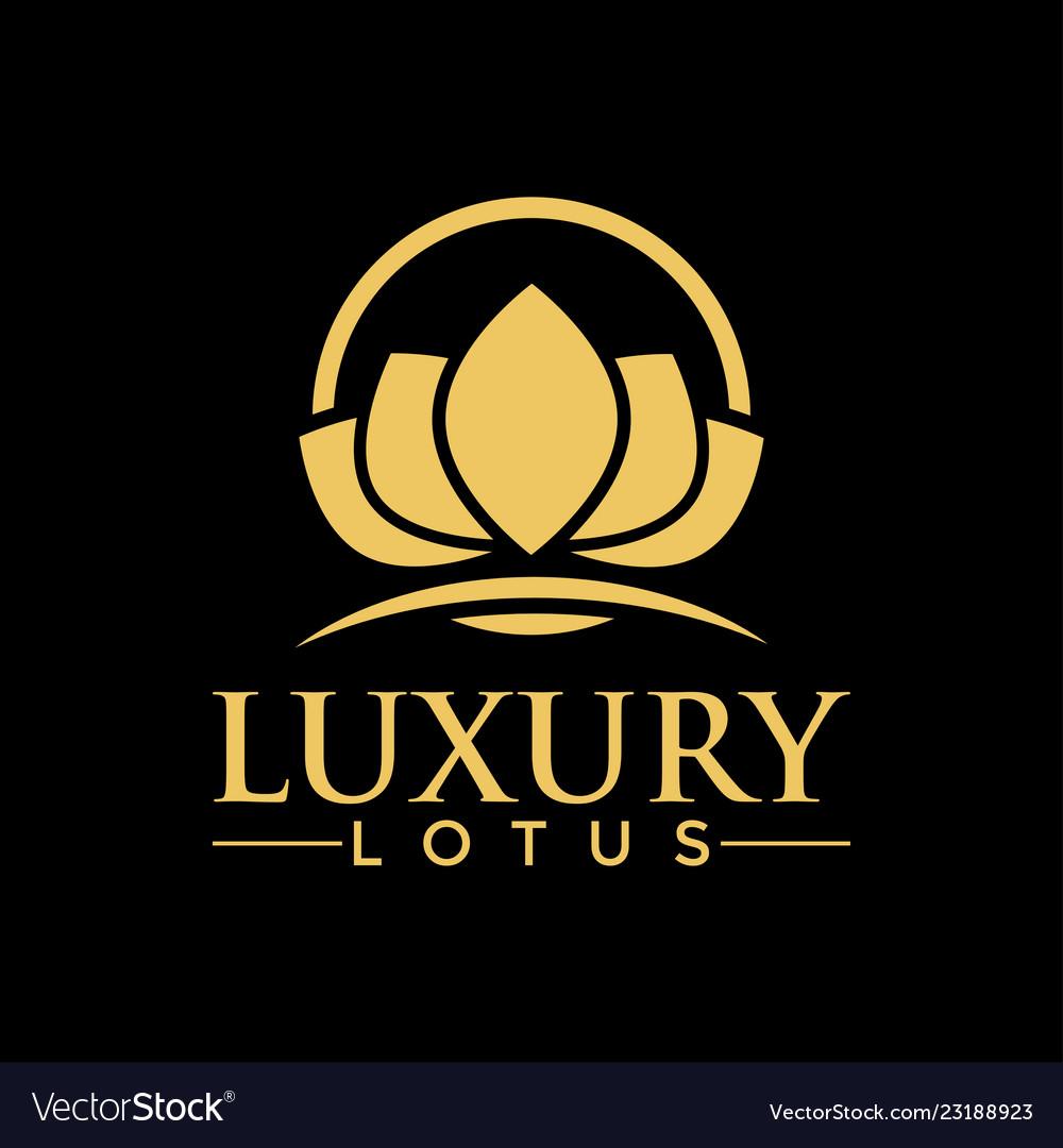Luxury lotus logo design inspiration