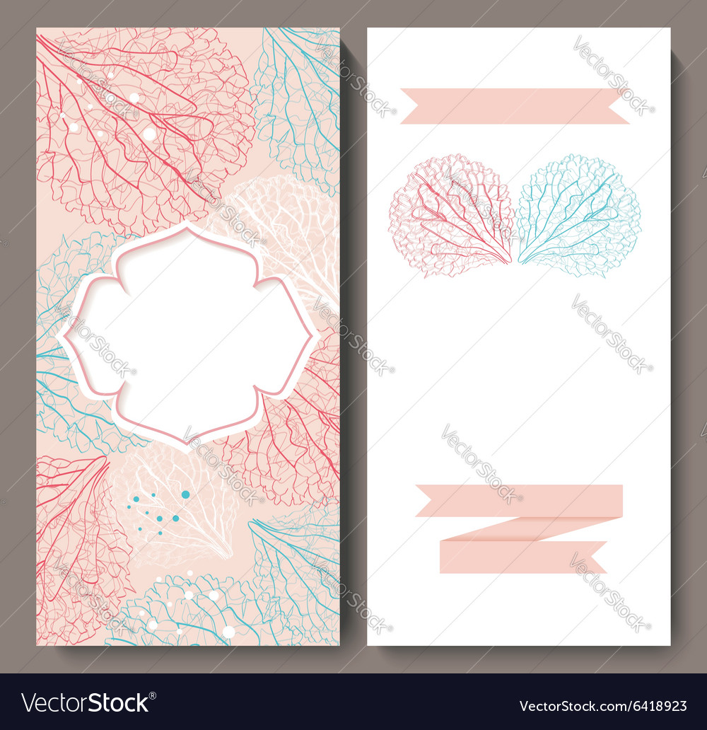 Marriage invitation card with flower background vector image stopboris Gallery
