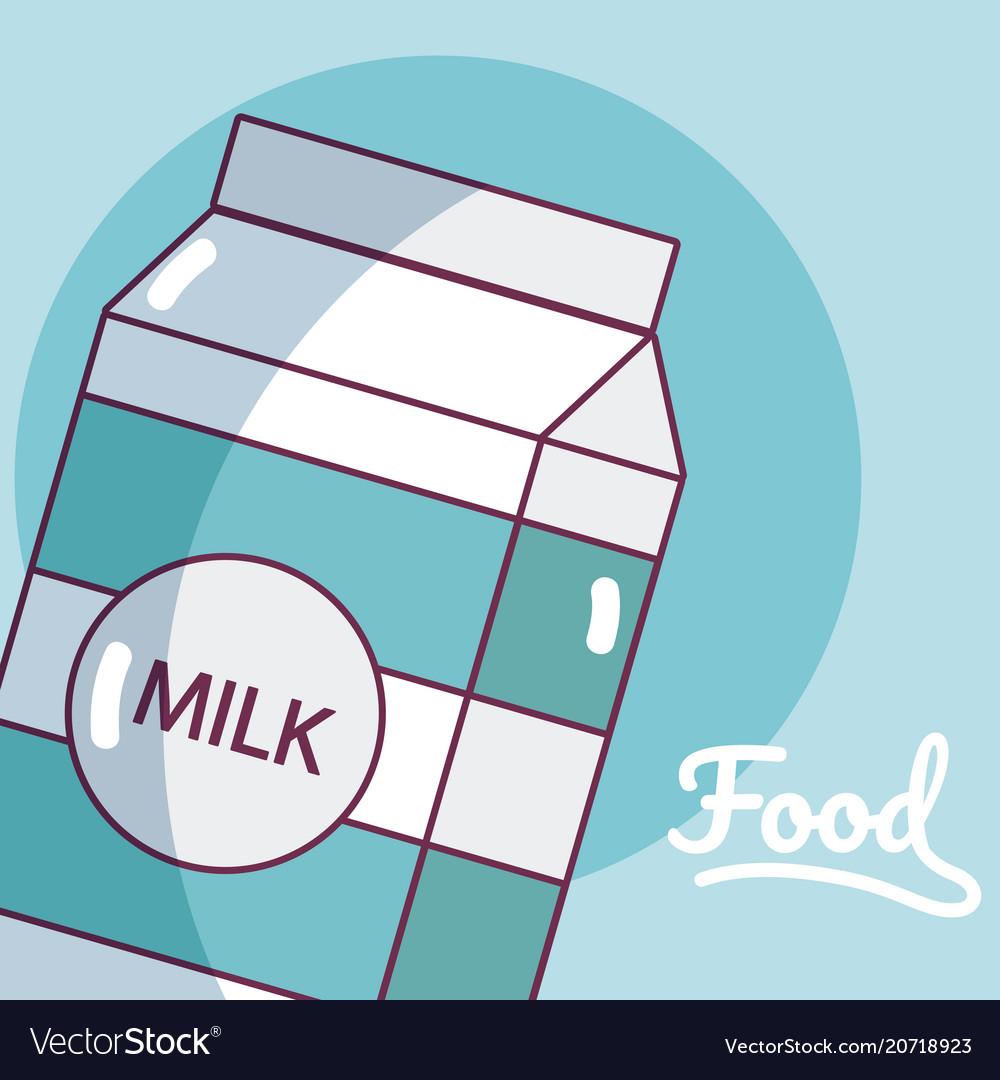 Milk box drink product