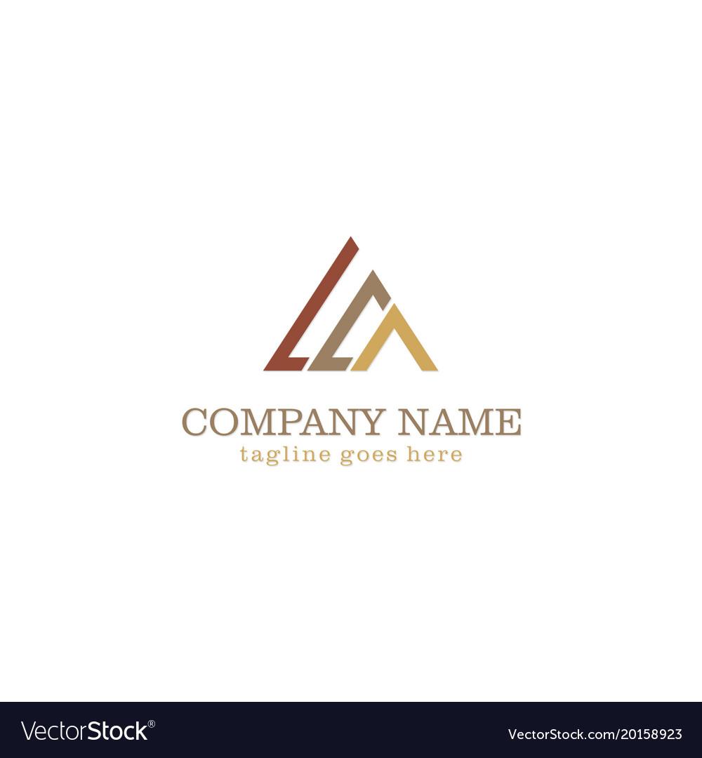 Triangle line colored company logo