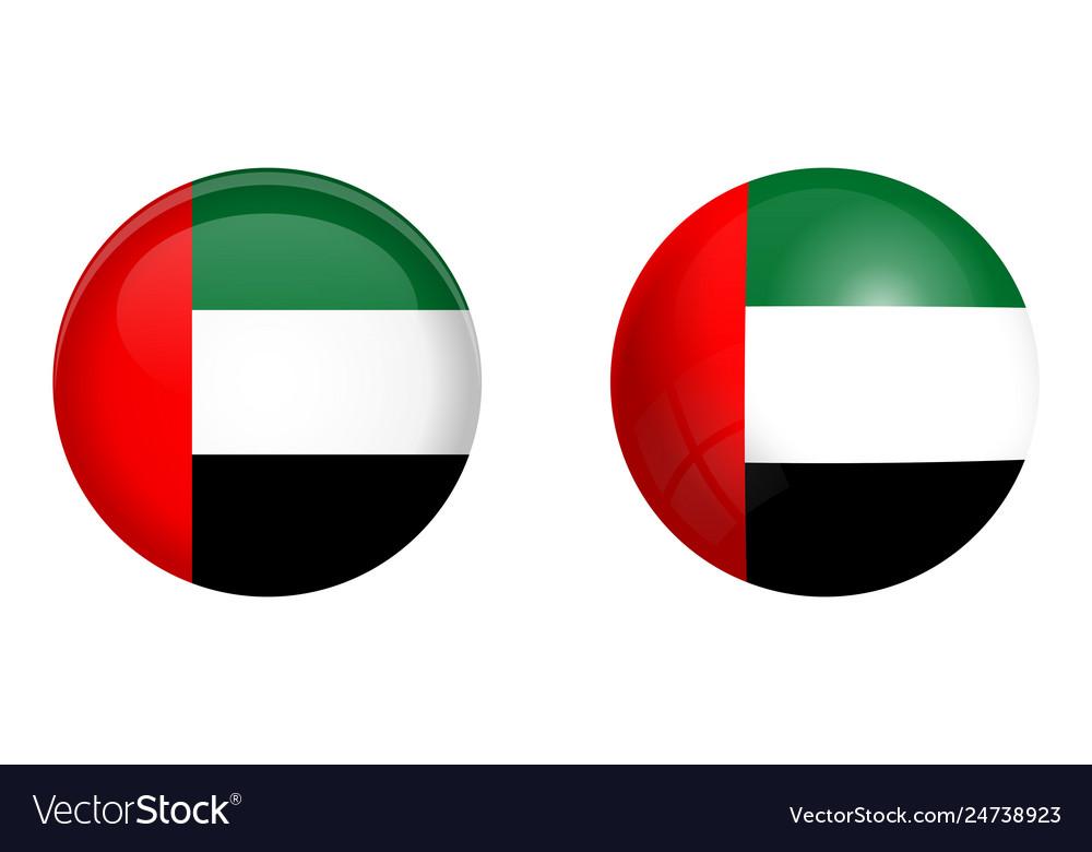 United arab emirates uae flag under 3d dome