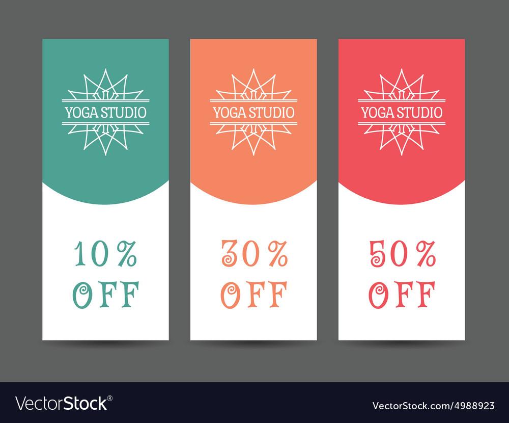 Yoga Studio Discount Coupon Template