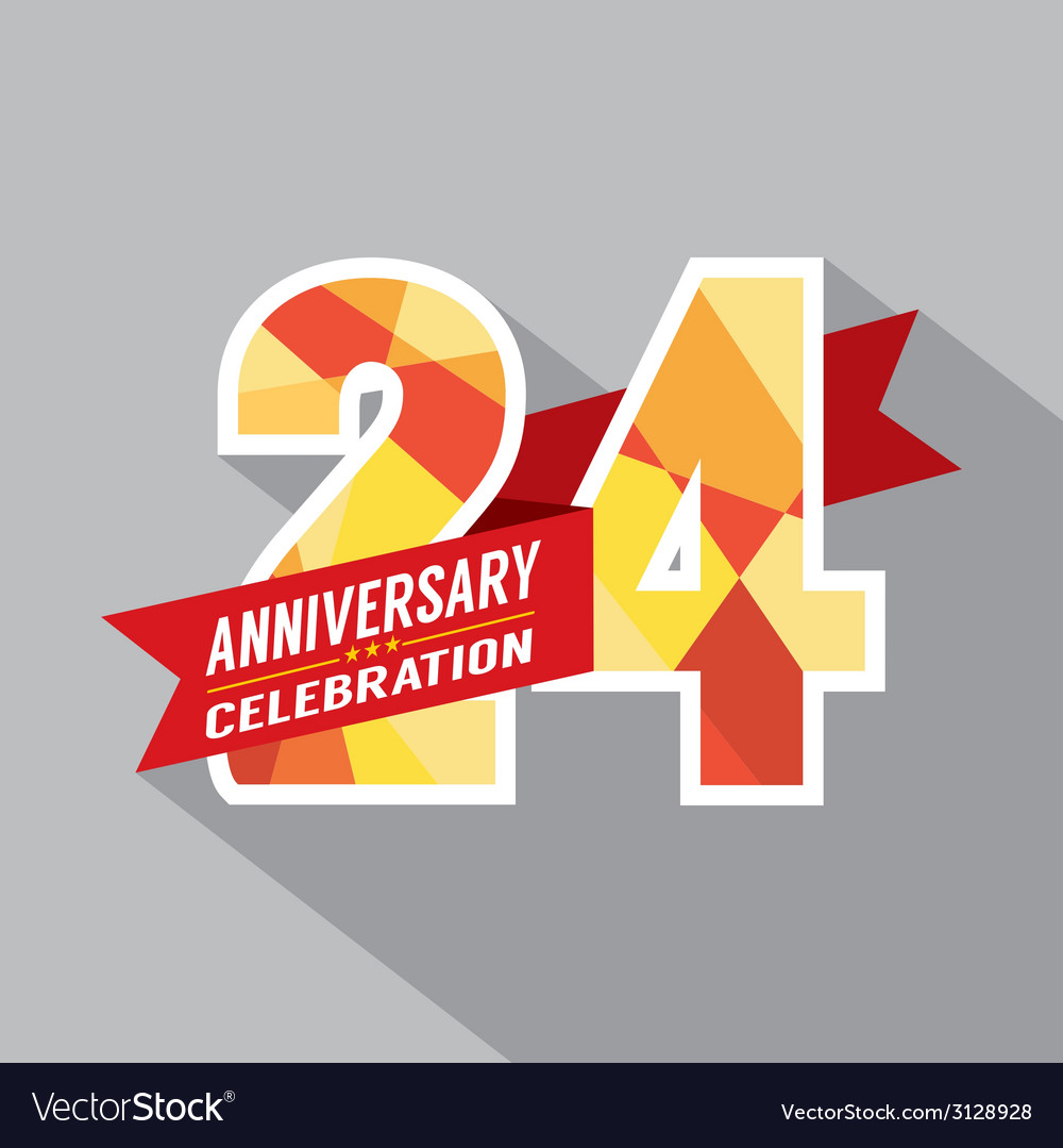 24th Years Anniversary Celebration Design