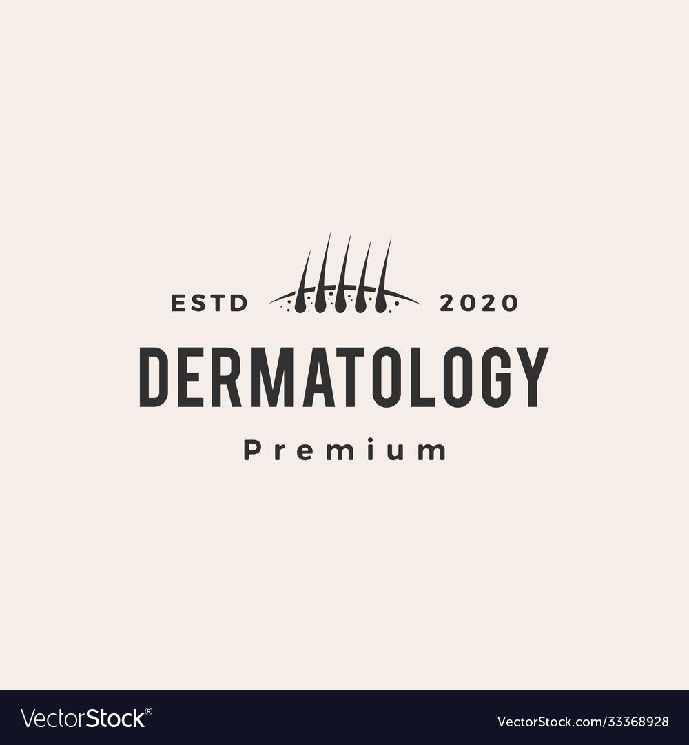 Dermatology follicle hipster vintage logo icon