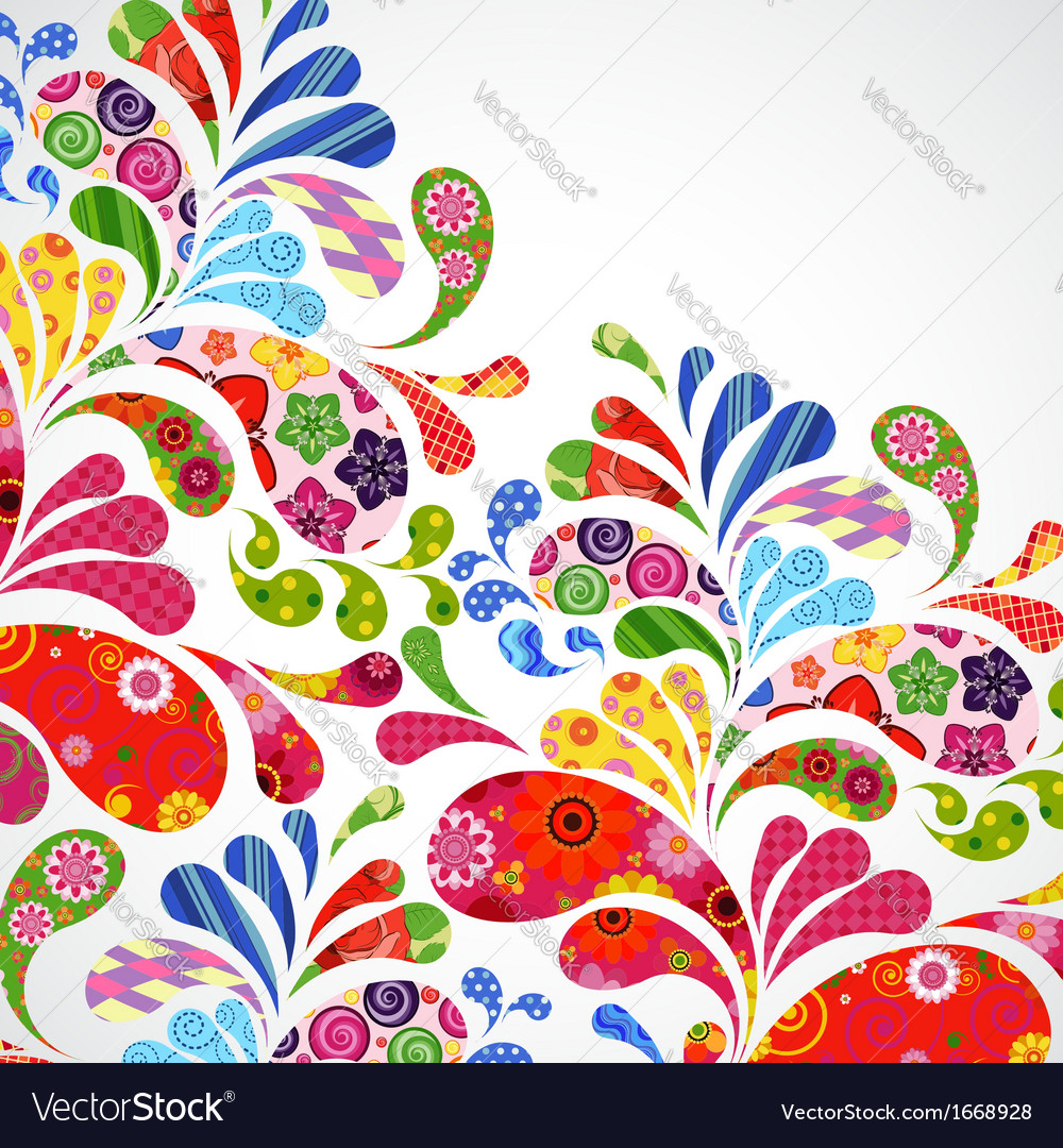 Floral and ornamental item background