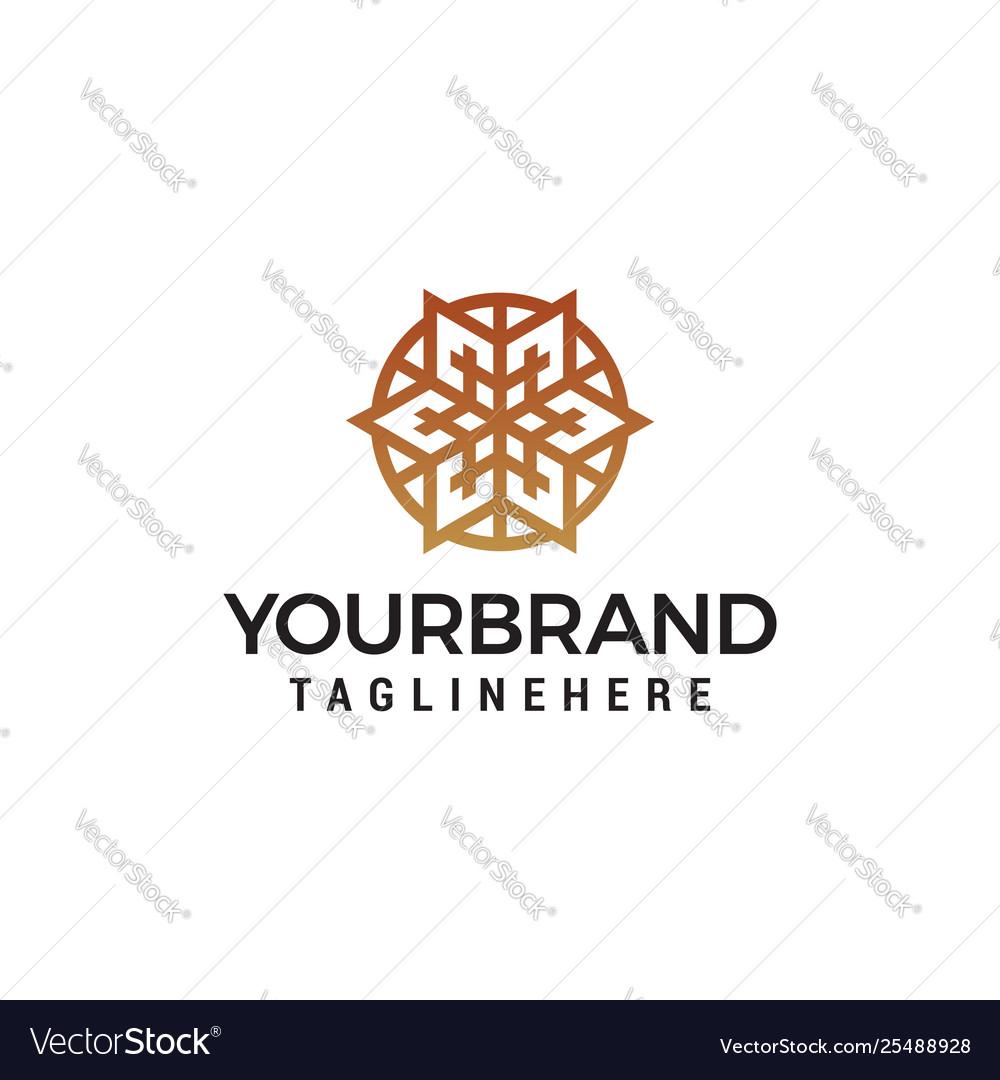 Floral logo design concept template abstract