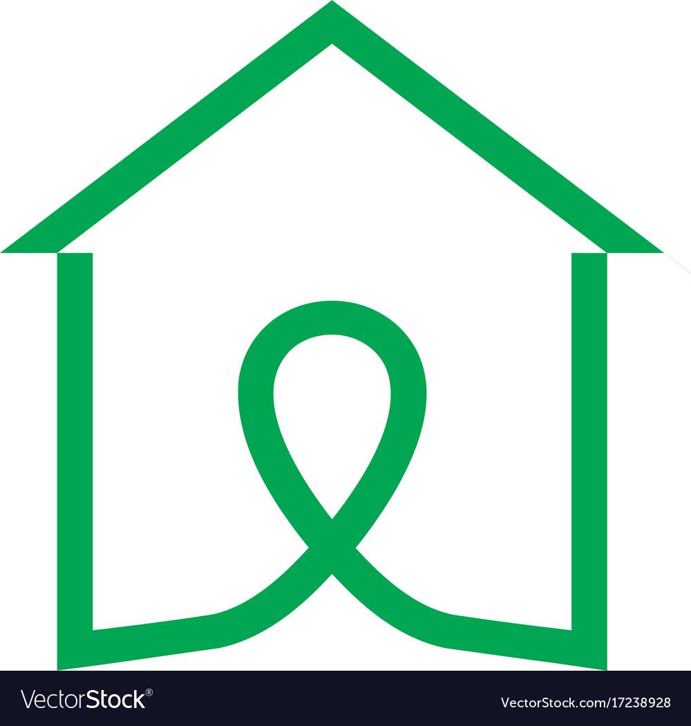 House line logologo icon design template vector image
