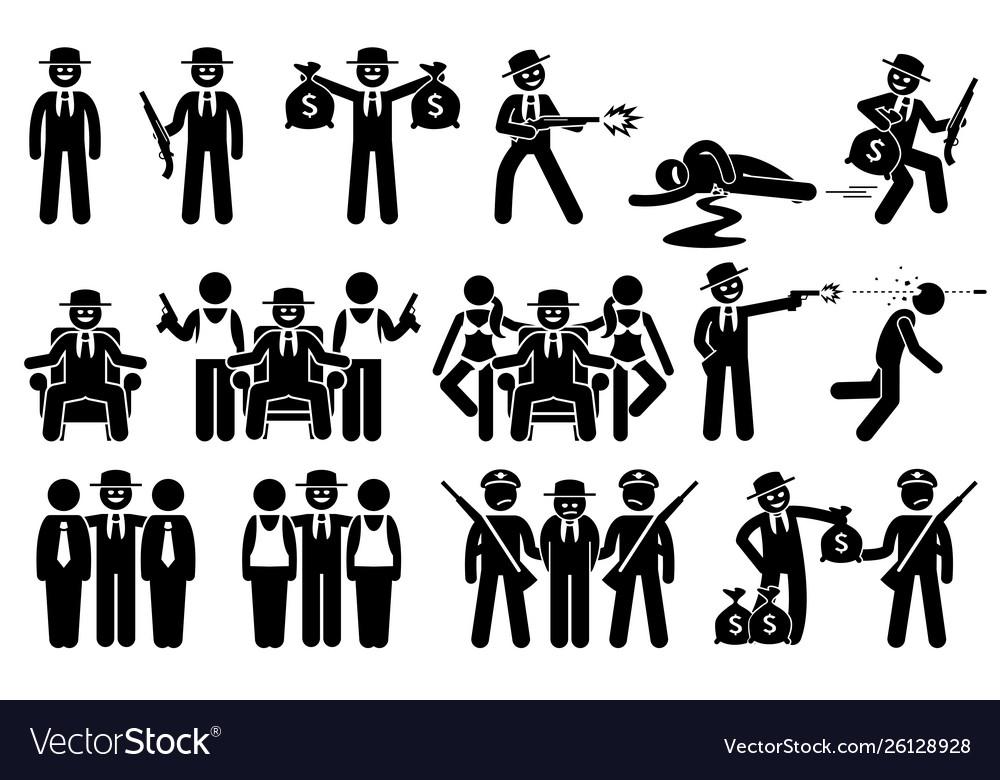 Mafia boss rich criminal killing people thug