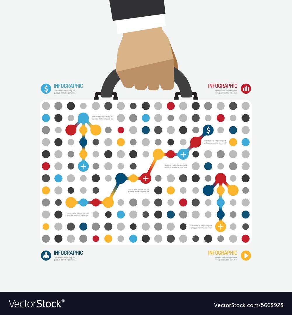 Modern design business bag dot style infographic