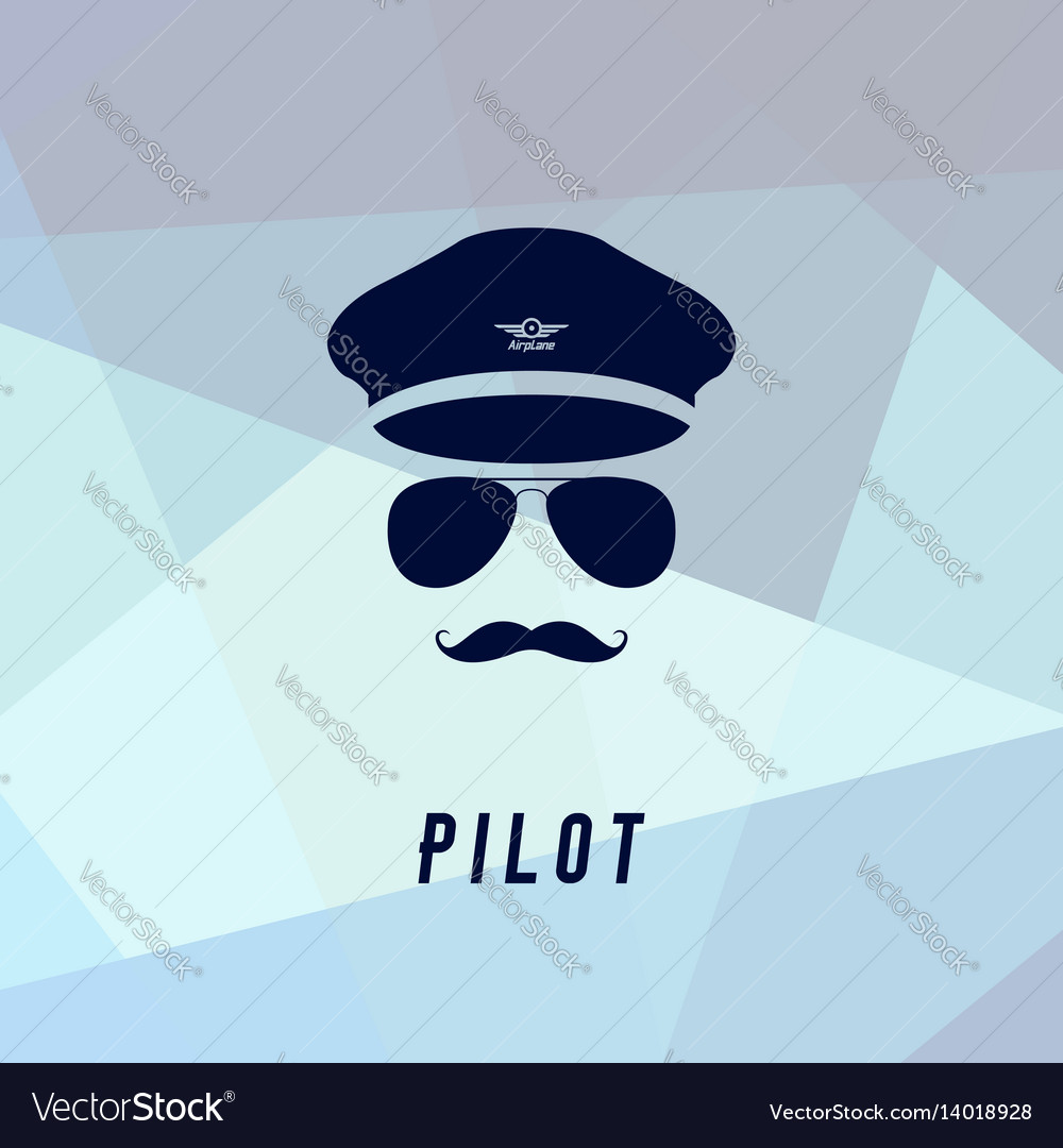 Pilot icon in flat style
