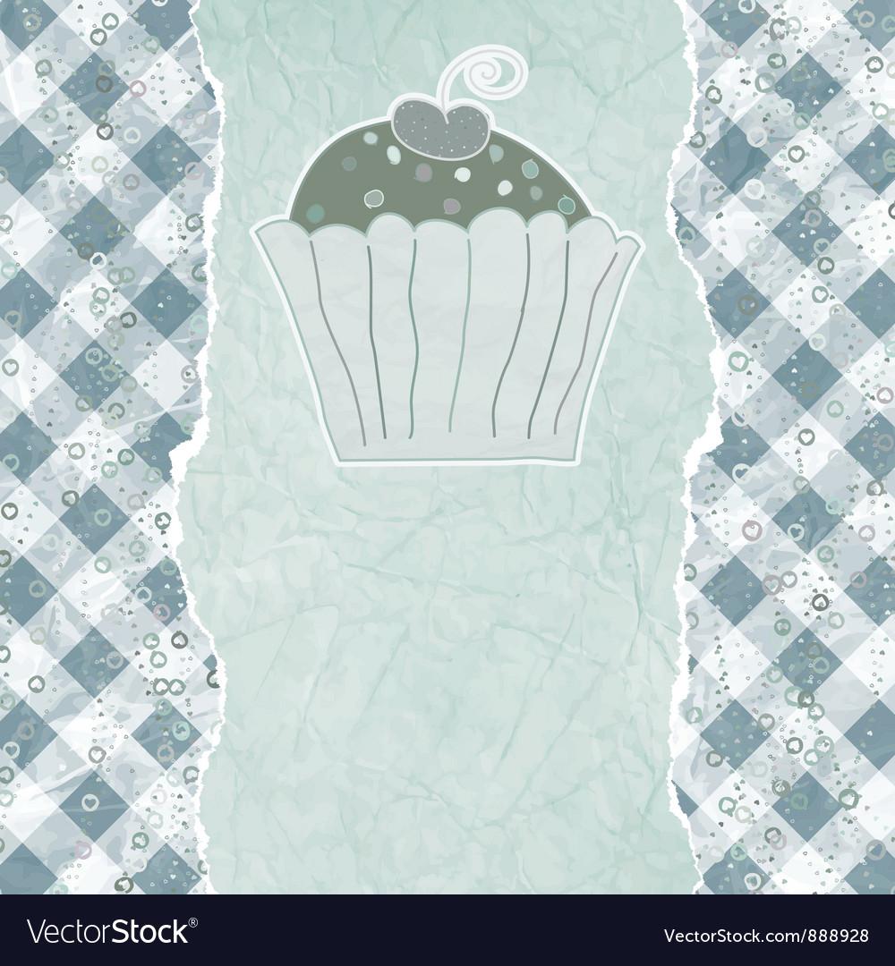 Retro cupcake card