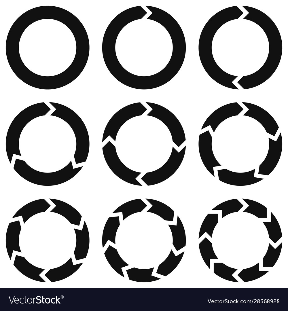 Round infographic elements template circular