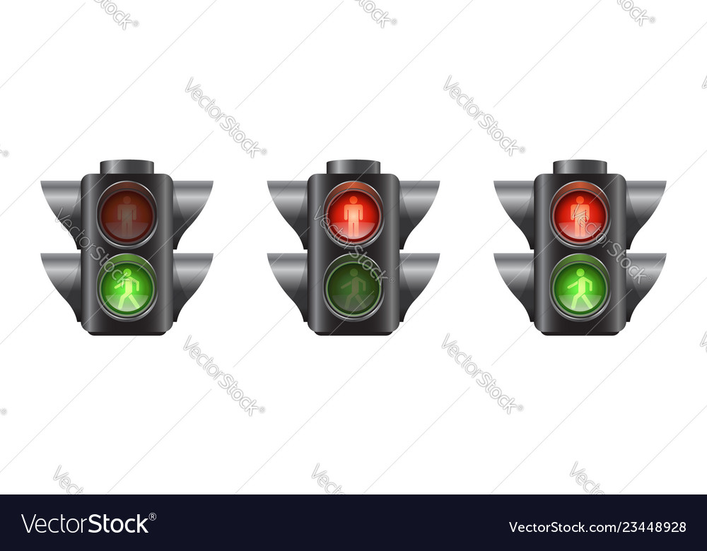 Set realistic traffic lights for pedestrians