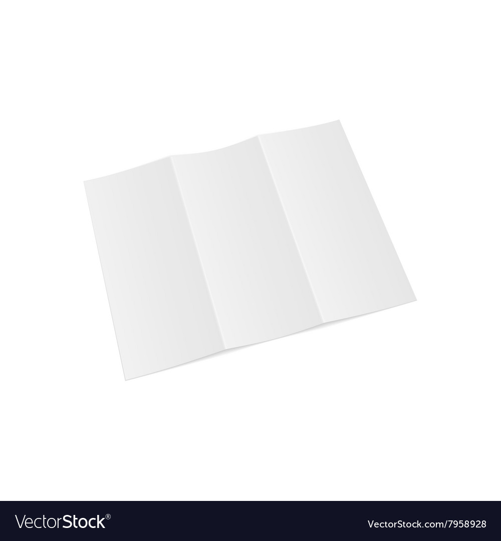 trifold opened paper letter template vector image