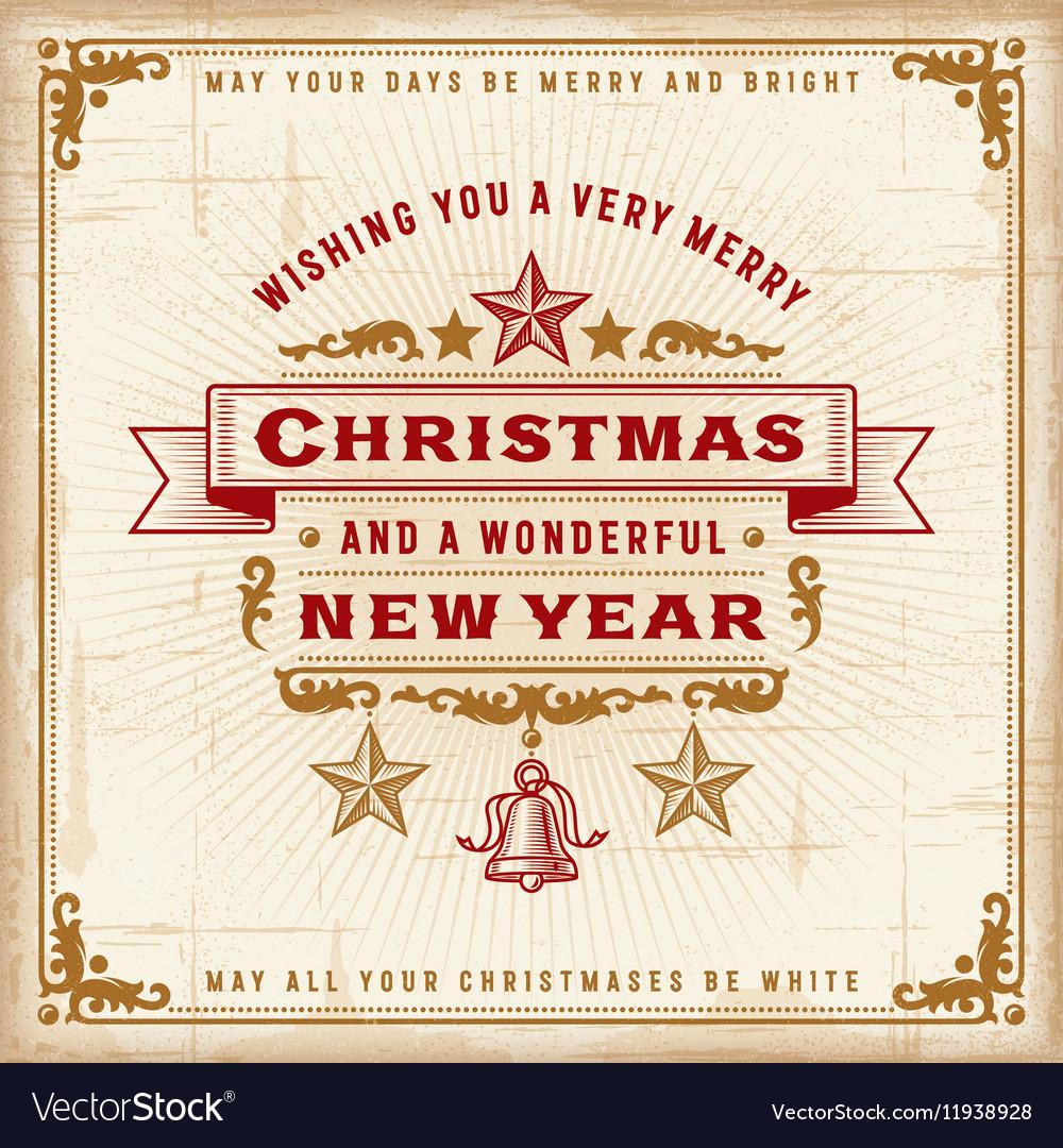 Vintage Christmas Typography