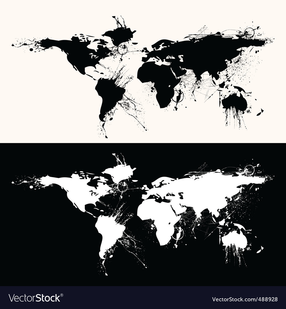World map grunge royalty free vector image vectorstock world map grunge vector image gumiabroncs Images