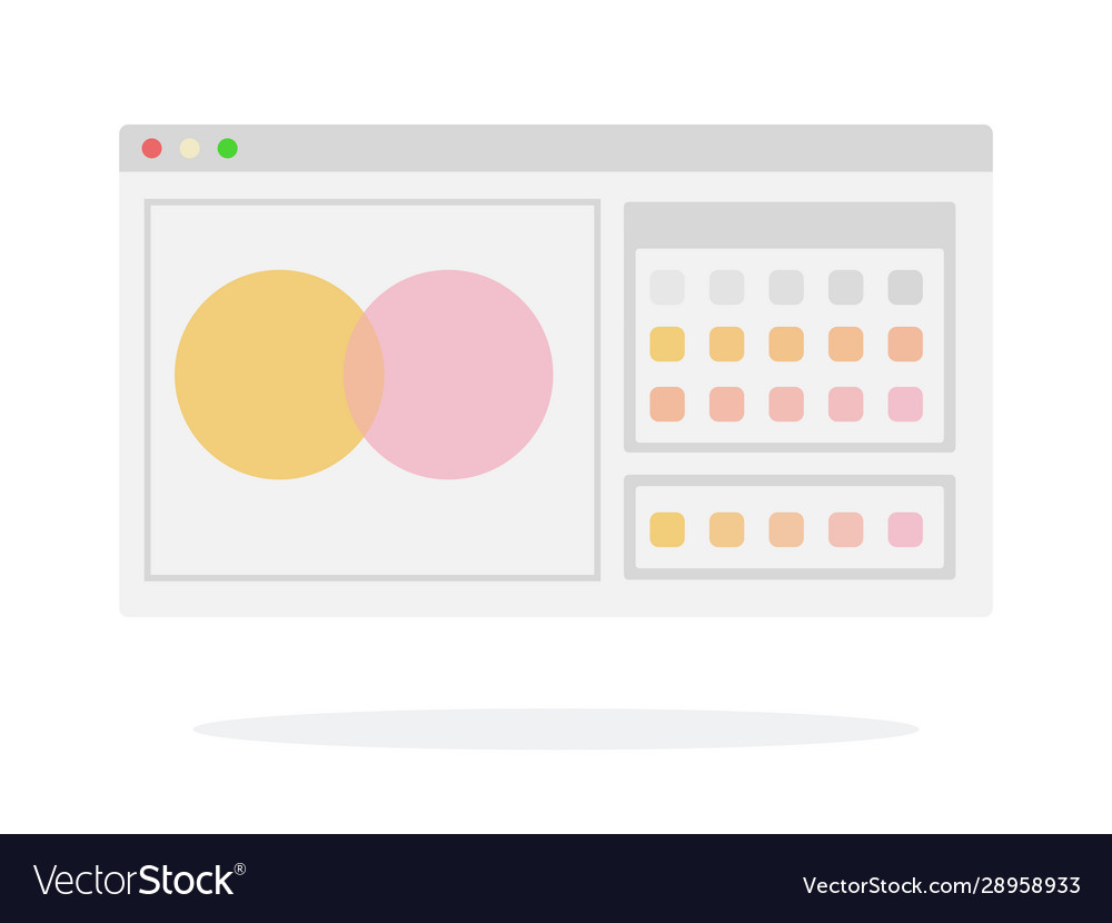Browser window flat isolated
