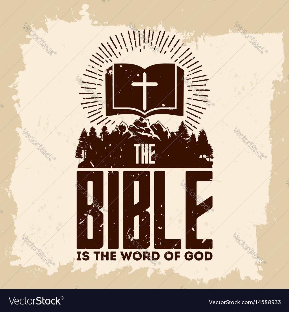Christian biblical typography