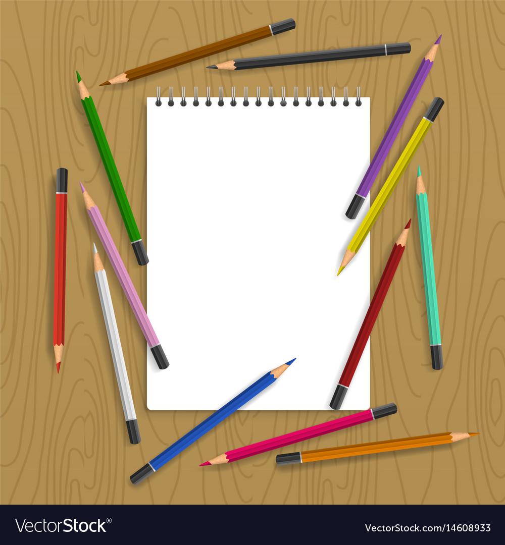 Clipboard with color pencils