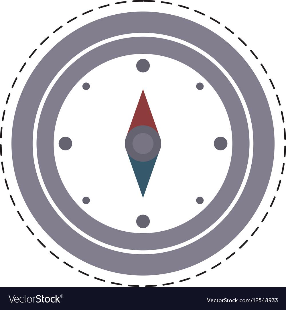 Compass location gps travel cut line