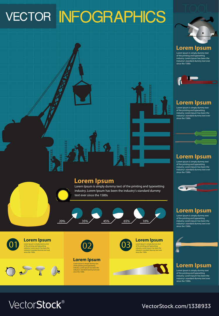 Construction info-graphics containing
