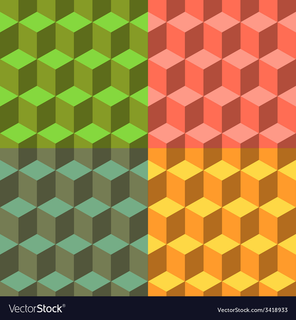Cube set of seamless backgrounds