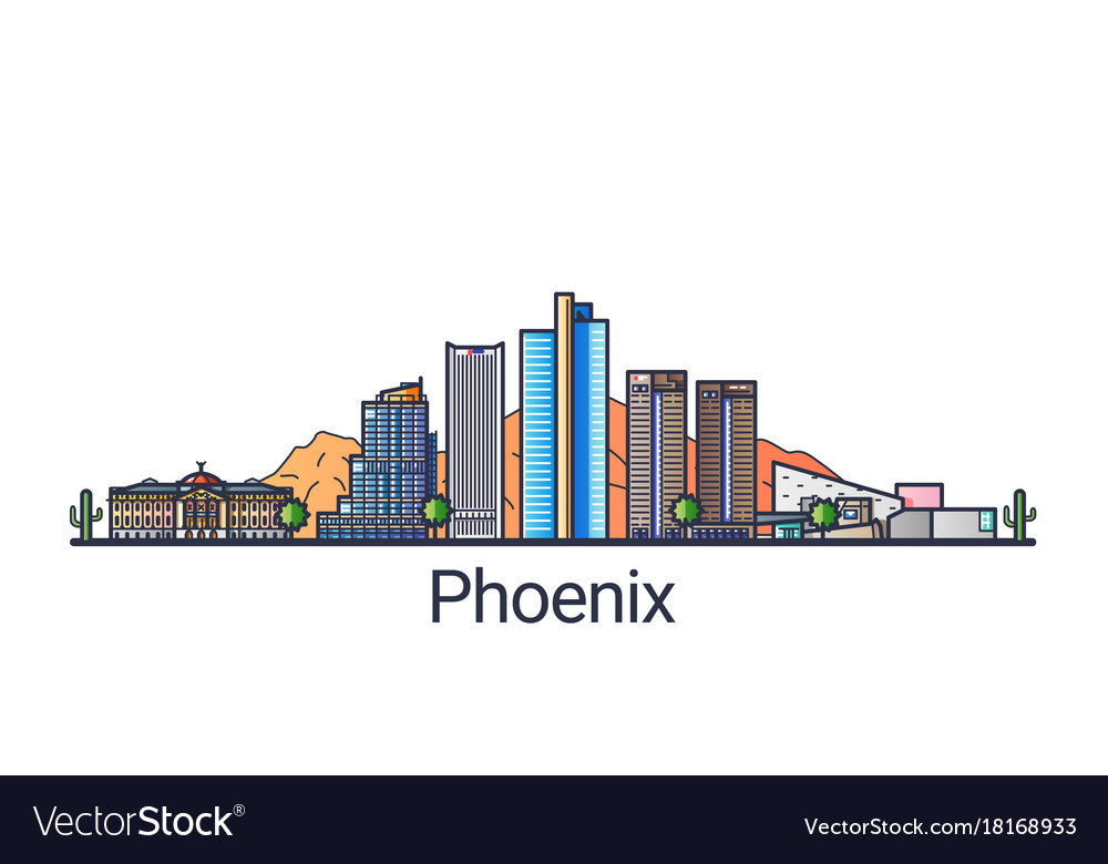 Flat line phoenix banner