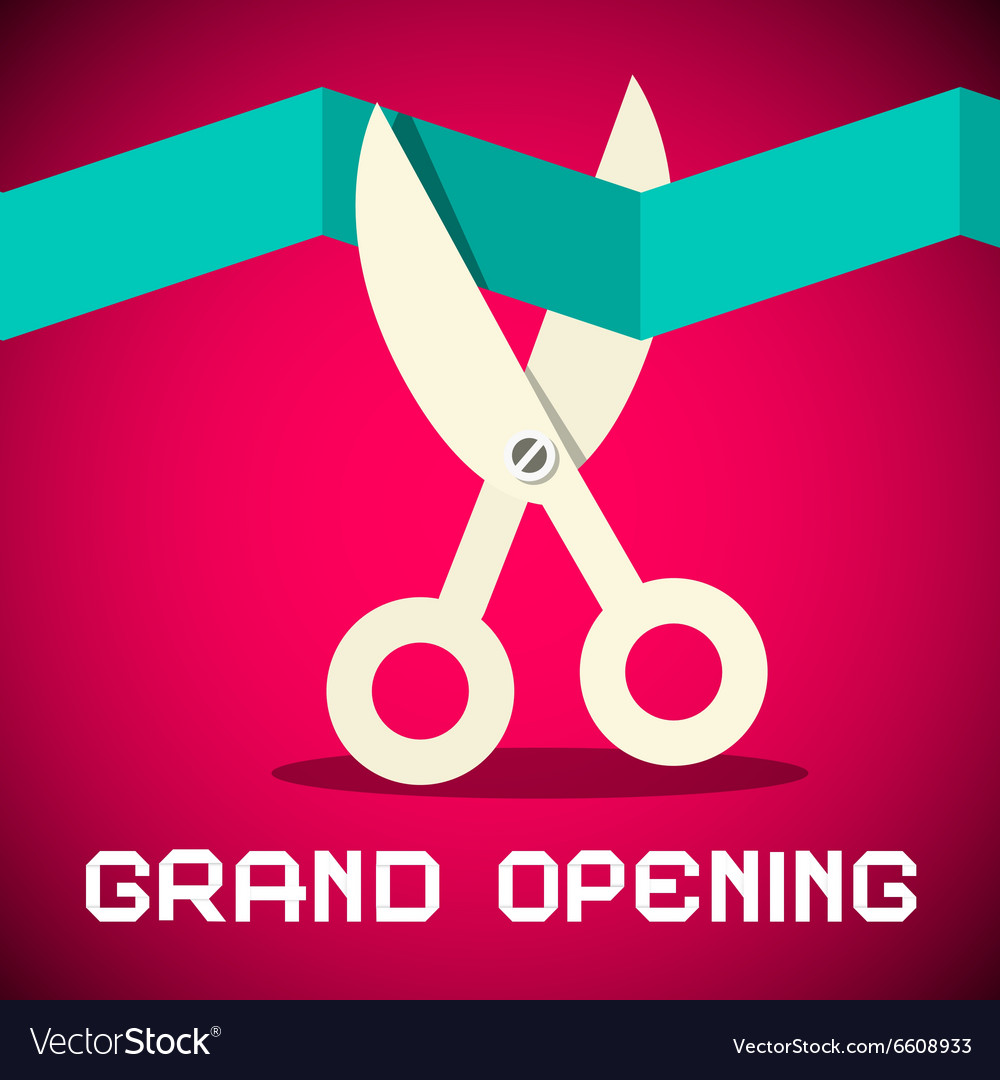 Grand Opening on Retro Pink Background