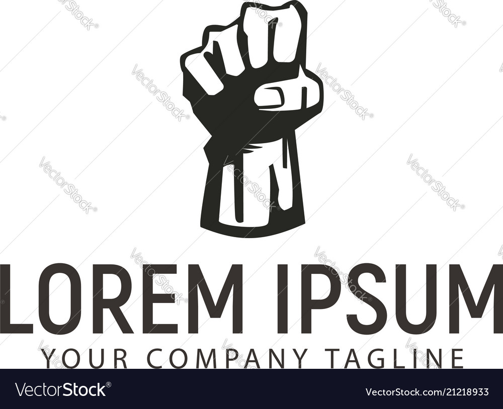 Hand up freedom logo design concept template