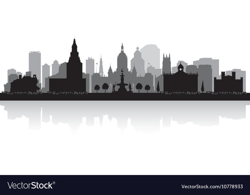 Hartford Connecticut city skyline silhouette vector image