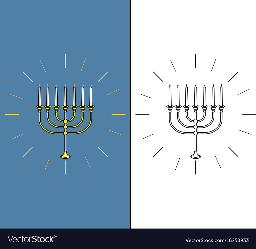 Jewish candle stick