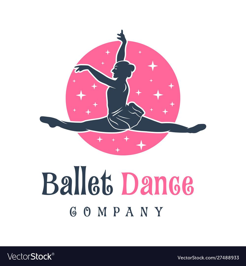 Logo design people dancing ballet