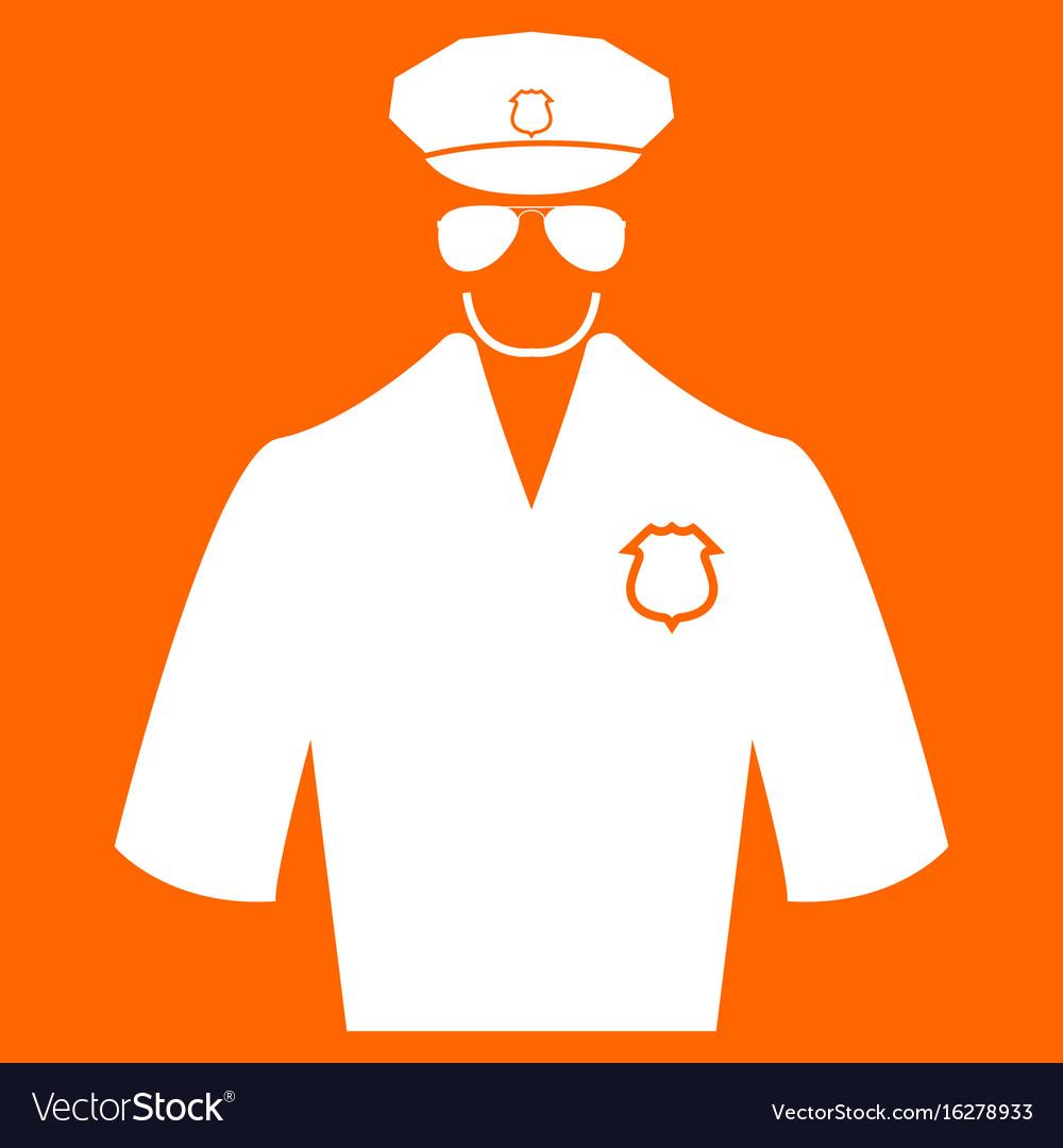 Police white icon
