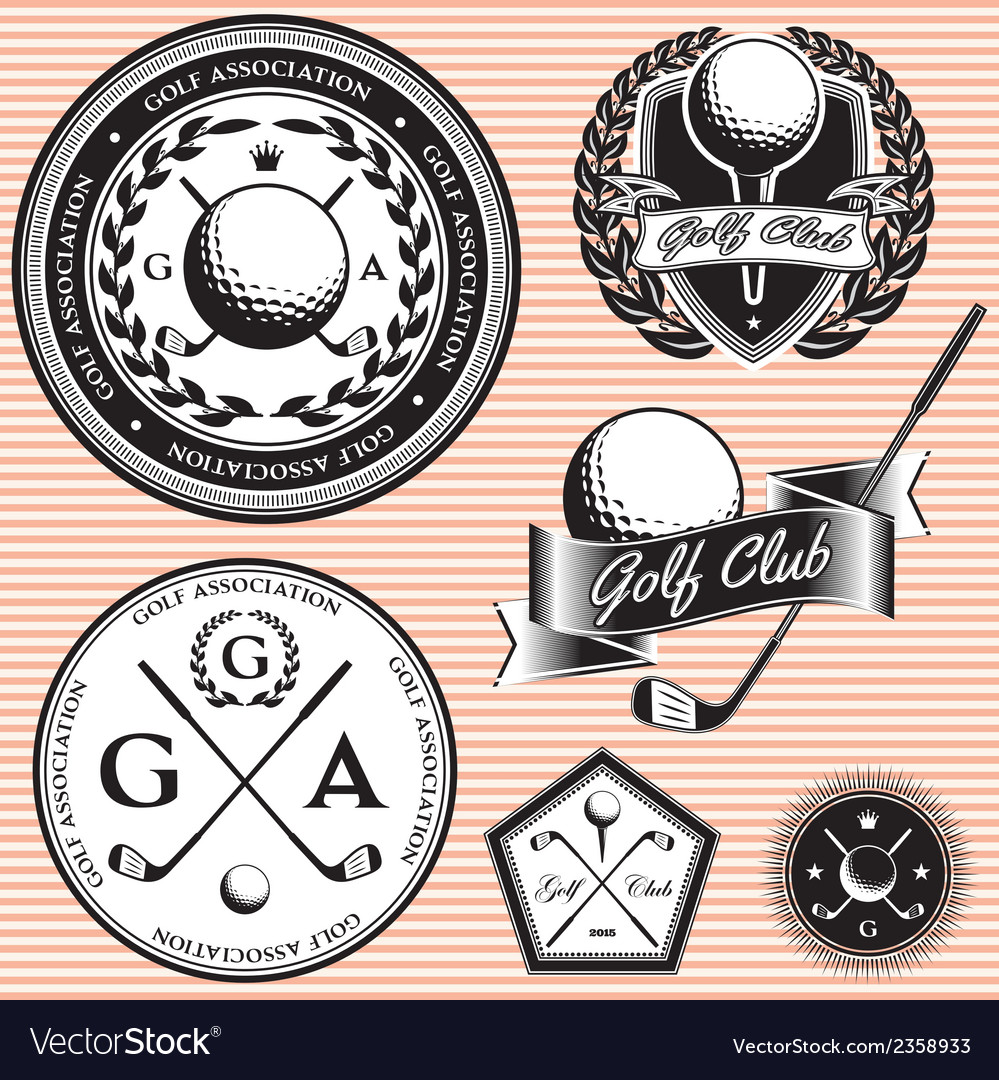 Set emblems to topic golf game
