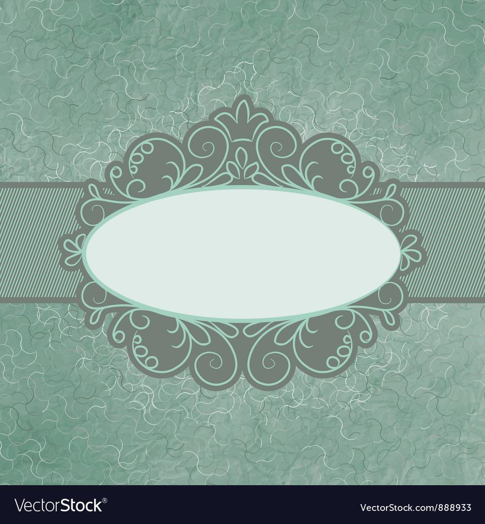 Vintage floral lace Card