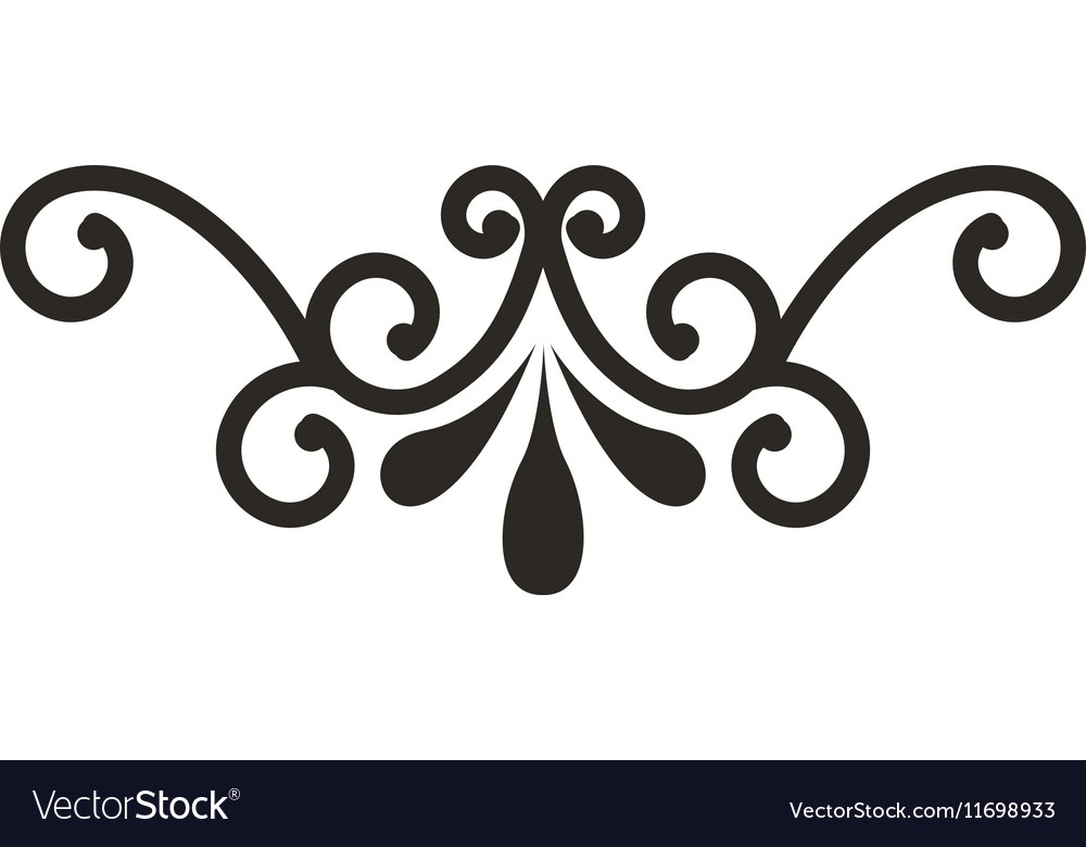 Wrought Iron Frame Isolated Icon Royalty Free Vector Image
