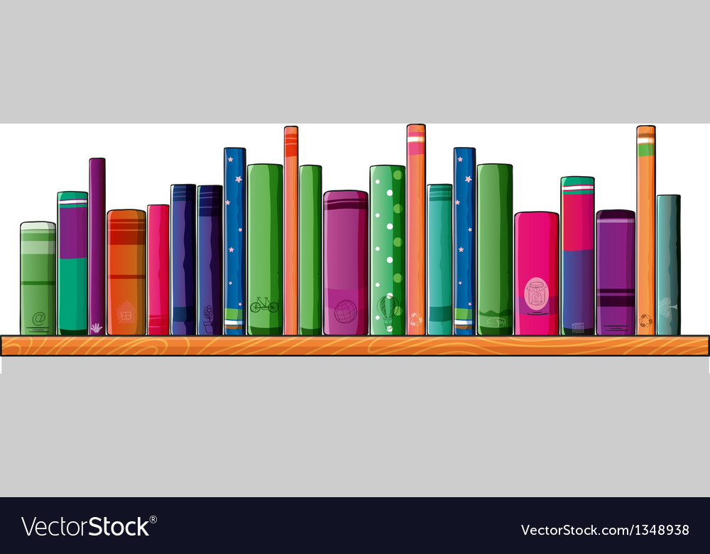 A Shelf Full Of Books Royalty Free Vector Image
