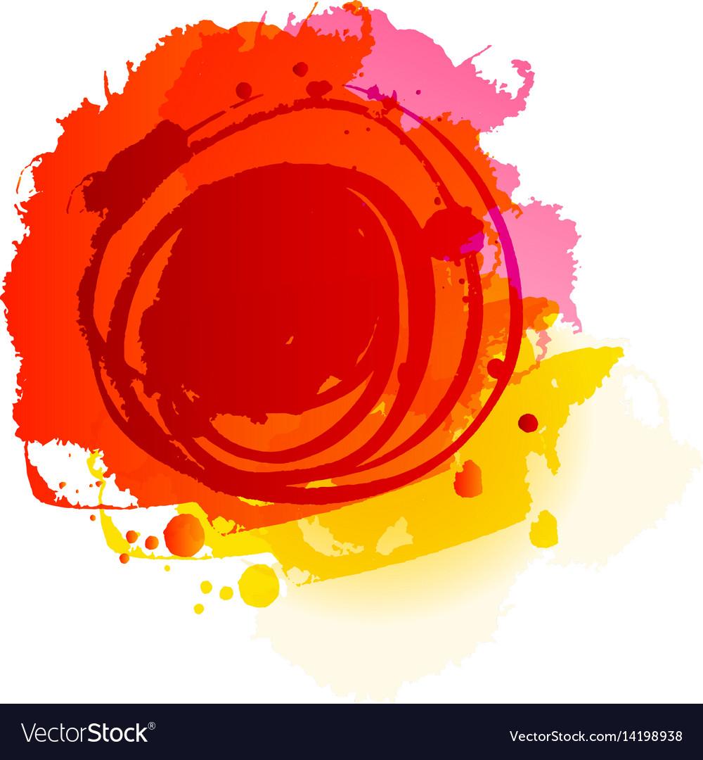Grunge summer red background