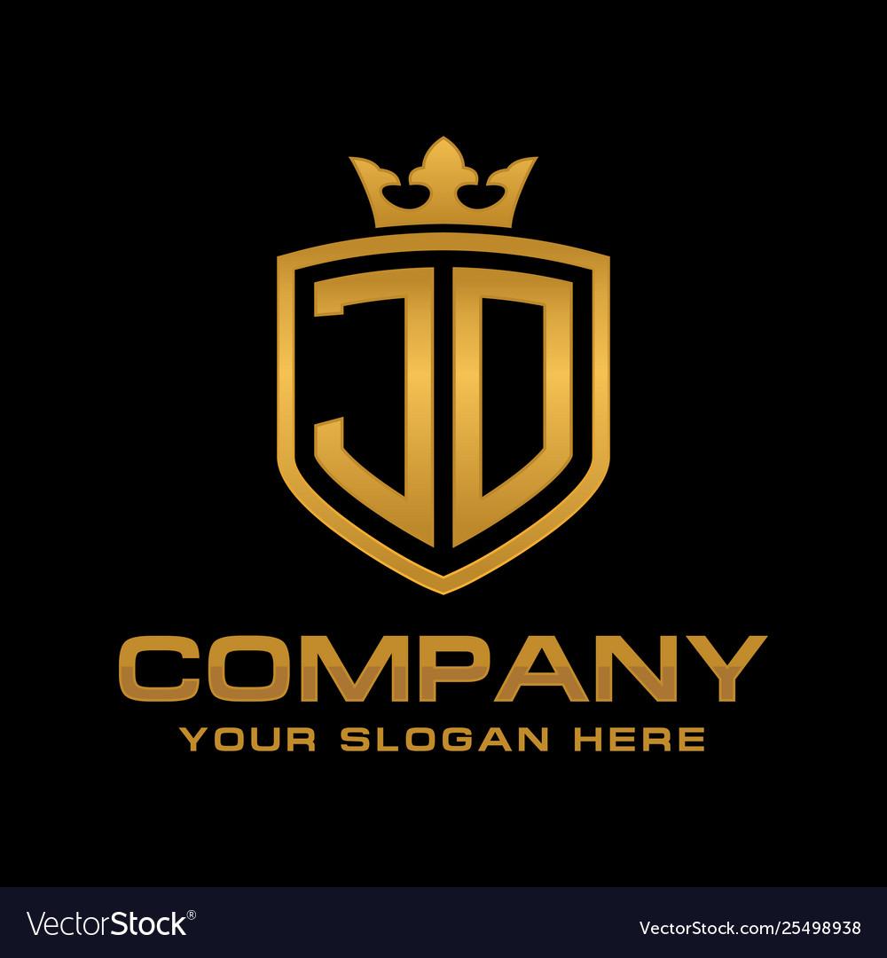 jd logo royalty free vector image vectorstock vectorstock
