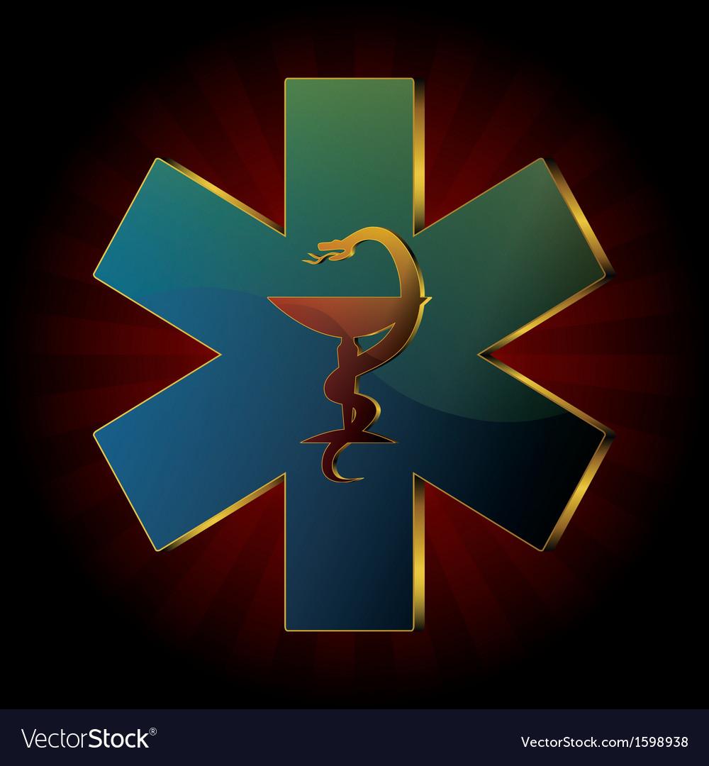 Medical snake background