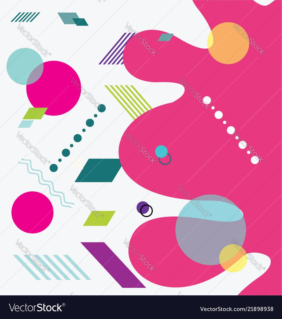 Retro design for brochure banner flyer and poster