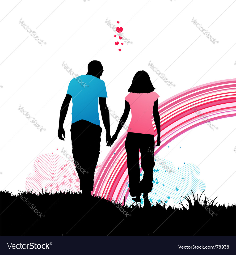 Romantic walk vector image