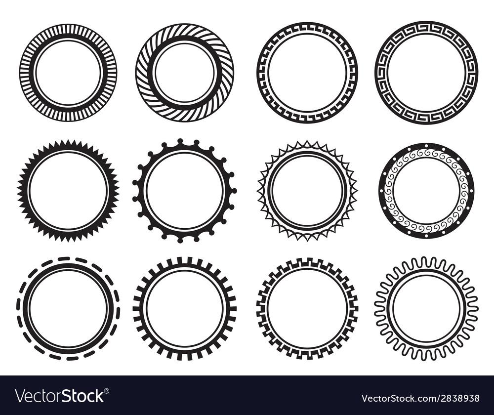 Set nice old fashioned circle