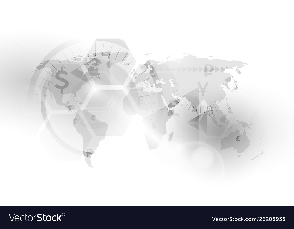 World countries currency map stock exchange